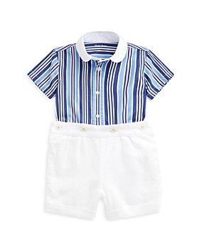 Ralph Lauren - Boys' Striped Cotton Shirt & Linen Shorts Set - Baby