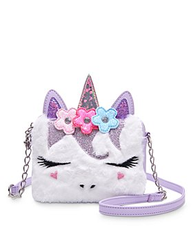 OMG Accessories - Girls' Miss Gwen Plush Crossbody Bag