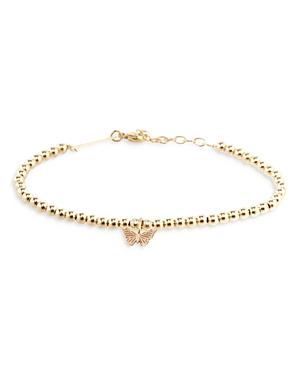 Zoë Chicco 14k Yellow Gold Butterfly Bead Bracelet
