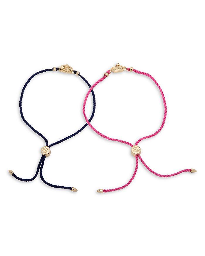 Ralph Lauren - Crest Logo Bolo Bracelets, Set of 2