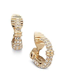 Ralph Lauren - Pavé Small Clip On Hoop Earrings