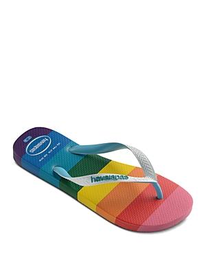 Women's Top Pride Rainbow Print Flip Flops