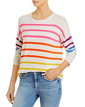 Sundry - Rainbow Striped Sweater