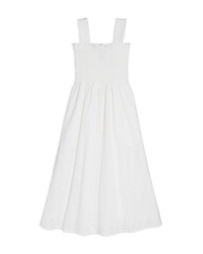 AQUA - Girls' Smocked Eyelet Dress, Big Kid - 100% Exclusive
