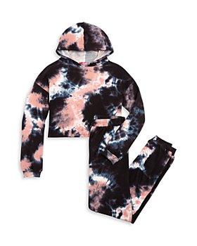 AQUA - Girls' Tie Dye Cropped Hoodie & Jogger Pants - Big Kid - 100% Exclusive