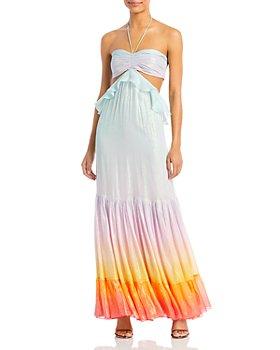 Rococo Sand - Ruffled Cutout Maxi Dress