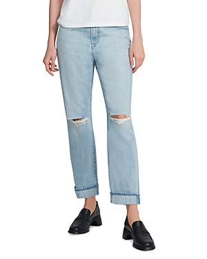 J Brand TATE RIPPED JEANS IN STATIS DESTRUCT