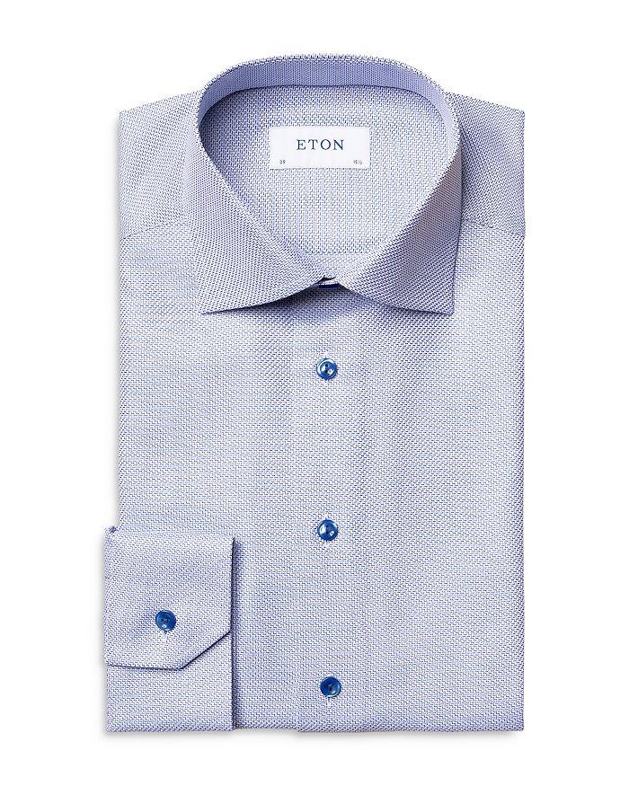 Eton Herringbone King Twill Slim Fit Dress Shirt ...