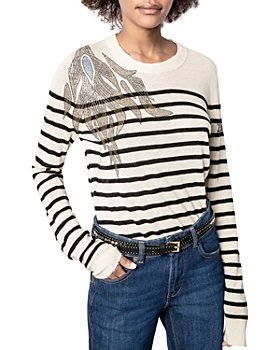 Zadig & Voltaire - Miss CP Striped Embellished Sweater