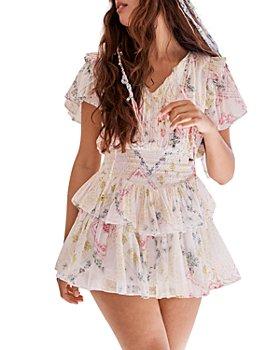 LoveShackFancy - Audette Cotton Ruffled Mini Dress