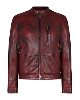 John Varvatos Star USA - Reyes Sheepskin Slim Fit Racer Jacket