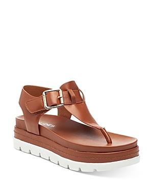 J/Slides Women's Becky Buckled Platform Thong Sandals