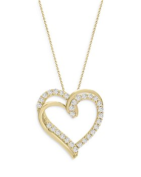 Bloomingdale's - Diamond Heart Pendant Necklace in 14k Yellow Gold, 1.0 ct. t.w. - 100% Exclusive