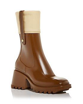 Chloé - Women's Betty Block Heel Rain Boots