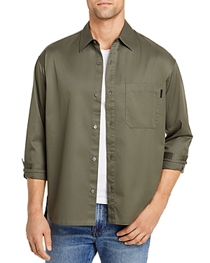 Frame Cotton Solid Relaxed Classic Fit Button Up Shirt