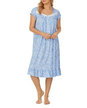 Printed Ruffle Trim Waltz Nightgown
