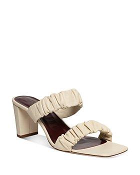 STAUD - Women's Frankie Ruched High Block Heel Slide Sandals