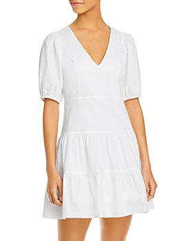 FRENCH CONNECTION - Birch Tiered Puff Sleeve Dress