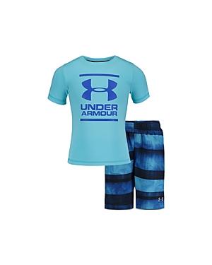 Under Armour Boys' Logo Tee & Volley Shorts Set - Little Kid