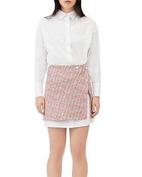 Maje - Rajari Tweed Skirt Shirt Dress