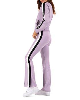 PAM & GELA - Tuxedo Stripe Track Jacket & Flared Track Pants