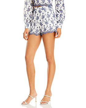 AQUA - Chelsee Cotton Eyelet Shorts - 100% Exclusive