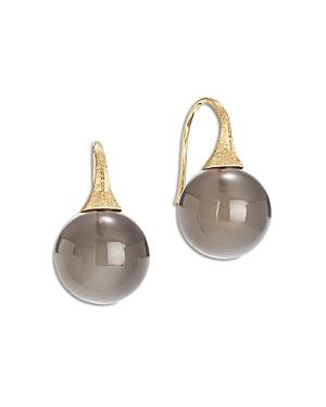 Marco Bicego 18K Yellow Gold Africa Boule Gray Moonstone Drop Earrings
