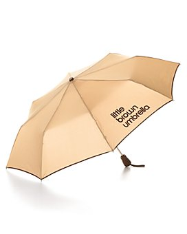 GustBuster - Bloomingdale's Little Brown Umbrella - 100% Exclusive