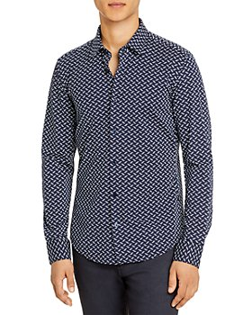 BOSS - Ronni Micro Print Slim Fit Shirt