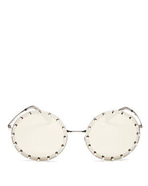 Valentino Women's Round Sunglasses, 54mm In Gold/white