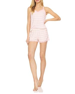 Shawna Ribbed Striped Shorts Pajama Set