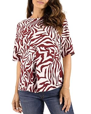 Zebra Print Zip Back Maternity Top