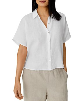 Eileen Fisher - Boxy Handkerchief Linen Shirt