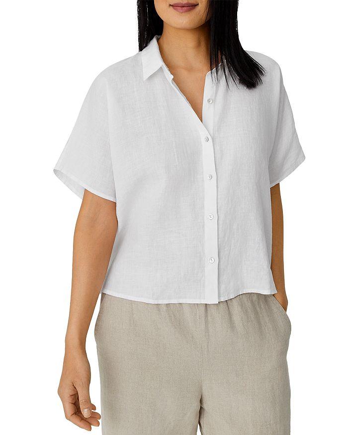 Eileen Fisher - Boxy Handkerchief Linen Shirt