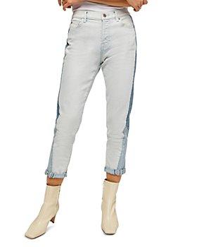 7 For All Mankind - Josefina Slim Boyfriend Jeans in Cold Water Patchwork