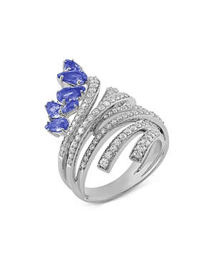 Hueb 18K White Gold Mirage Tanzanite & Diamond Statement Ring