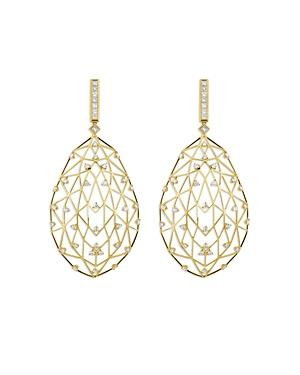 Hueb 18K Yellow Gold Estelar Openwork Diamond Drop Earrings