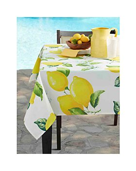 "Benson Mills for Bloomingdale's - Citrina Indoor Outdoor Spillproof Tablecloth, 84"" x 60"" - 100% Exclusive"