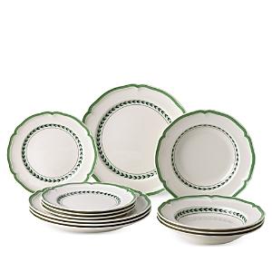 Villeroy & Boch French Garden Green Line 12 Piece Dinnerware Set