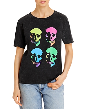 Neon Skull Graphic Tee