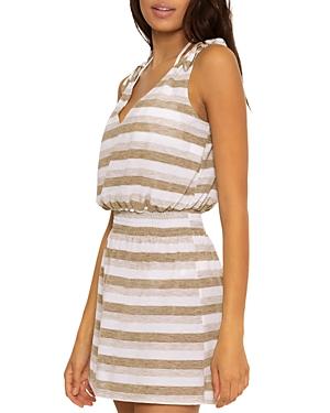 Shimmer Stripe Dress Swim Cover-Up