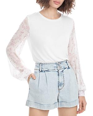 Noelle Flower Sleeve Top