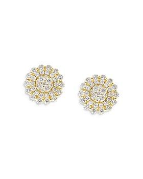 Bloomingdale's - Diamond Cluster Stud Earrings in 14K Yellow Gold, 1.35 ct. t.w. - 100% Exclusive