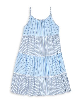 Ralph Lauren - Girls' Striped Tiered Sleeveless Dress - Little Kid, Big Kid