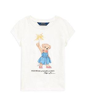 Ralph Lauren - Girls' Sparkler Bear Tee - Little Kid