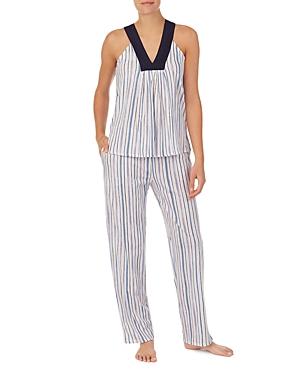 Sleepwear Striped Long Pajama Set