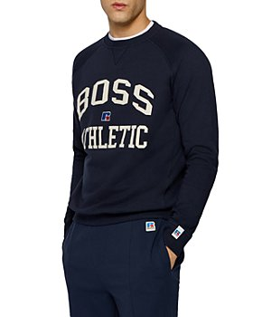 BOSS - X Russell Athletic Stedman Logo Relaxed Crewneck Sweatshirt