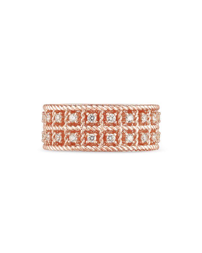 Roberto Coin - 18K Rose Gold Byzantine Barocco Diamond Ring