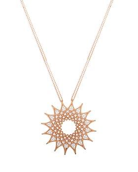 """Roberto Coin - 18K Rose Gold Roman Barocco Diamond Pendant Necklace, 28"""""""