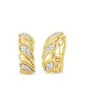 Roberto Coin - 18K Yellow Gold Byzantine Barocco Diamond Earrings